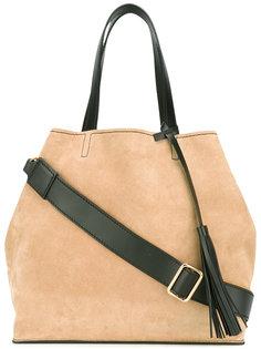 сумка-шопер в стиле колор-блок  Santoni
