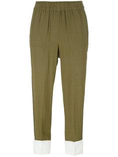 укороченные двухцветные брюки Twin-Set