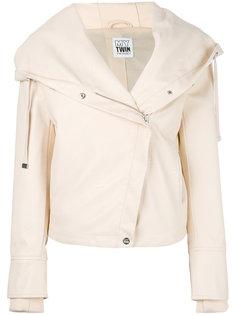 байкерская куртка с капюшоном Twin-Set