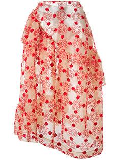 юбка с цветочным узором и оборками Simone Rocha