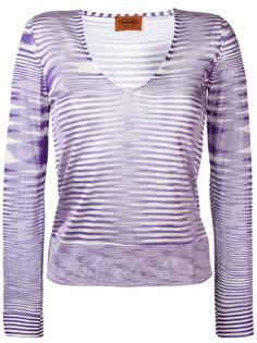 трикотажная блузка с V-образным вырезом Missoni