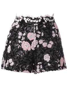 шорты с цветочной вышивкой Giambattista Valli