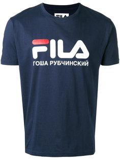футболка с принтом логотипа Gosha Rubchinskiy ГОША РУБЧИНСКИЙ