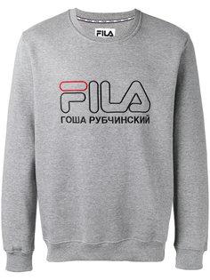 футболка с принтом-логотипом Gosha Rubchinskiy ГОША РУБЧИНСКИЙ
