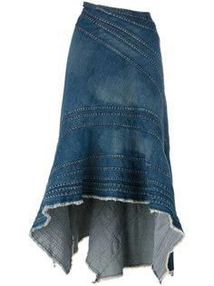 джинсовая юбка с рюшами Junya Watanabe Comme Des Garçons