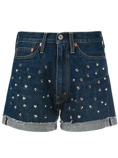 джинсовые шорты с заклепками Junya Watanabe Comme Des Garçons