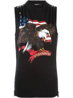 футболка с застежкой-молнией сбоку Dsquared2