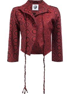 укороченный пиджак с сплошным узором Aganovich