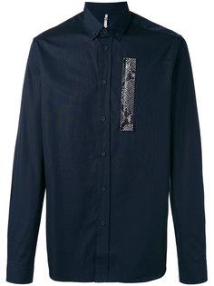 рубашка с контрастной вставкой Oamc