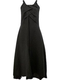 платье-миди с драпированной панелью Aganovich
