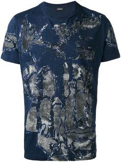 футболка  с абстрактным принтом Diesel
