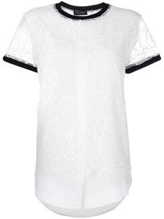 футболка с кружевной отделкой Twin-Set