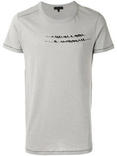 футболка с принтом птиц Ann Demeulemeester Grise
