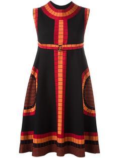 платье с геометрическим принтом Alaïa