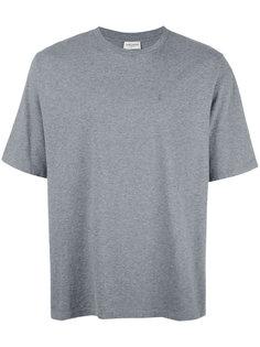 футболка с вышитым логотипом Saint Laurent
