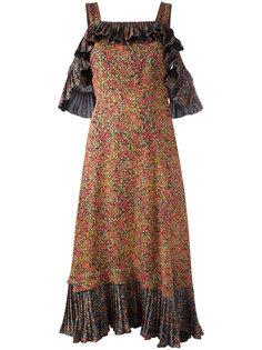 плиссированное платье с рюшами Philosophy Di Lorenzo Serafini