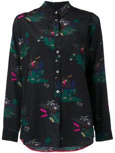 рубашка с принтом-пейзажем Paul Smith Black Label