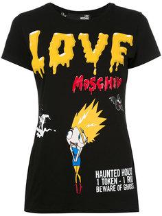 футболка Terrified Cartoon Love Moschino