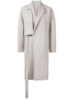 пальто с панелью на плечо Wooyoungmi