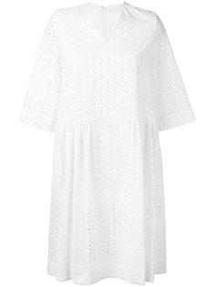 платье с вышивкой Peter Jensen