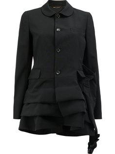 драпированный расклешенный пиджак Comme Des Garçons