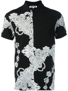 футболка-поло с орнаментом McQ Alexander McQueen