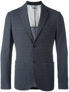 фактурный пиджак на пуговицах Giorgio Armani