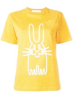 футболка с изображением зайца Peter Jensen
