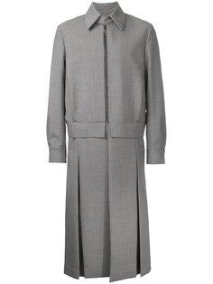 пальто в ломаную клетку на молнии Wooyoungmi