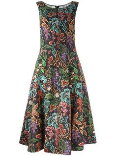 расклешенное платье с узором Philosophy Di Lorenzo Serafini