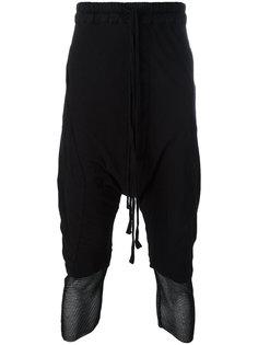 брюки с заниженной проймой и сетчатыми вставками Thom Krom