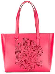 сумка-тоут с перфорацией логотипа Salvatore Ferragamo