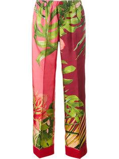 пижамные брюки с лиственным принтом For Restless Sleepers