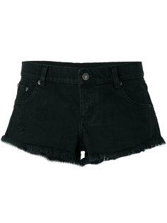 джинсовые шорты с бахромой The Kooples