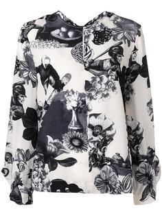 шелковая блузка с рисунком MSGM