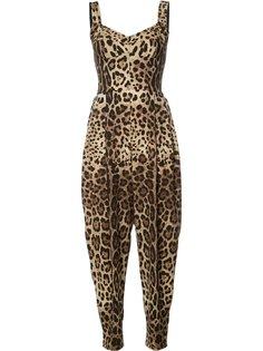комбинезон с леопардовыми узором Dolce & Gabbana