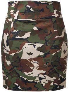 юбка с камуфляжным рисунком Alexandre Vauthier