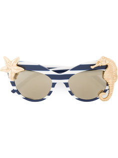 солнцезащитные очки в полосатой оправе кошачий глаз Dolce & Gabbana
