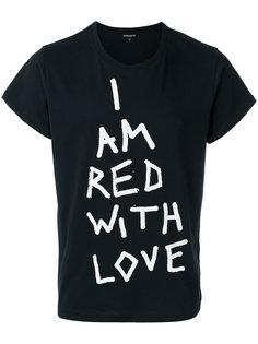 футболка с принтом текста Ann Demeulemeester