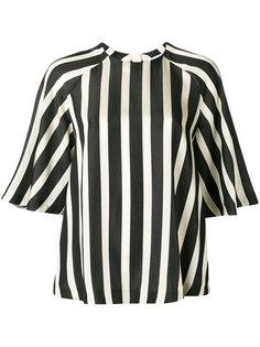 полосатая блузка с рукавами-реглан MSGM