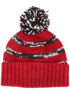 кашемировая шапка-бини с помпоном The Elder Statesman