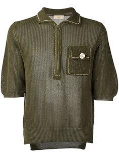 ажурная вязаная футболка Maison Flaneur