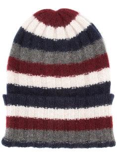 кашемировая шапка-бини в полоску The Elder Statesman