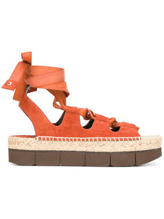 сандалии на платформе с завязками Paloma Barceló