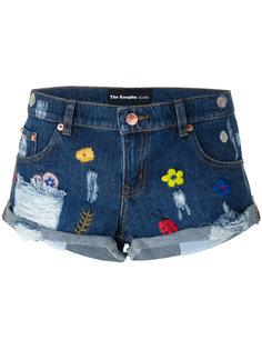 джинсовые шорты с вышивкой The Kooples
