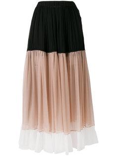 длинная юбка в стиле колор-блок Nº21