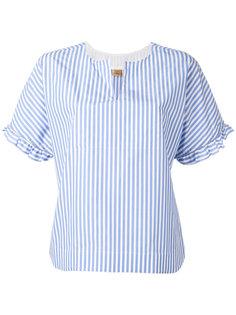 полосатая блузка с рюшами Fay