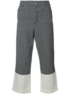 укороченные брюки с контрастными деталями Loewe