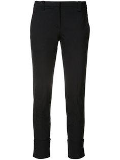 укороченные брюки с подворотами Brunello Cucinelli