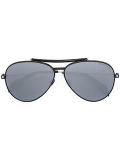 солнцезащитные очки-авиаторы Piercing Shield Alexander McQueen